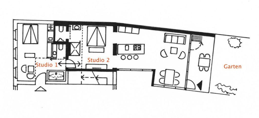 Grundriss Studio 2